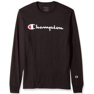 Champion Men's Classic Jersey Long Sleeve Script T